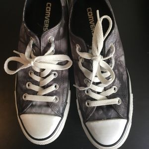 Gray Camouflage Converse